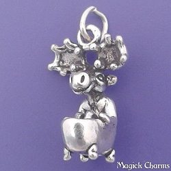 MOOSE In Clawfoot BATHTUB Sterling Silver 3-D Charm Pendant – lp2646 Jewelry Making Supply ...