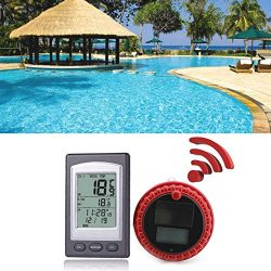 Auxsoul Pool Thermometer Wireless Solar Power Remote Floating Swimming Waterproof Hot Tub Pond Spa