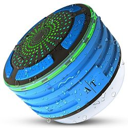 Bluetooth Speaker, Auto Tech IPX7 Portable Wireless Waterproof Bluetooth Shower Speaker with FM  ...