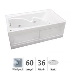 Cetra 60″ x 36″ Whirlpool Bathtub Color: White