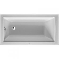 Duravit 700353000000090 Architec 60″x32″ Bathtub with Integrated Panel & Flange, ...