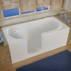 Meditub 3060silwh 3060 Series Rectangular Whirlpool Walk-In Bathtub, 30 X 60, Left Drain , White