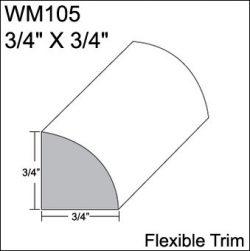 Flexible Moulding – Flexible Quarter Round Moulding – WM105 – 3/4″ X 3/4 ...