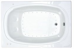 Atlantis Whirlpools 4872car Charleston Rectangular Air Jetted Bathtub, 48 X 72, Right Drain, White