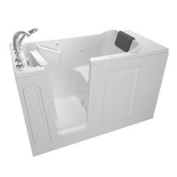 American Standard 3051.119.WLW Acrylic Luxury Series 30″ x 51″ Walk-In Bathtub with  ...