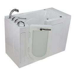 Ella OA3052DFH-DC-L Malibu Acrylic Dual Massage Walk-in Bathtubs, Outward Swing Door, Fast Fill  ...