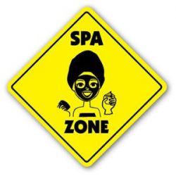 SPA ZONE Sign Decal xing gift novelty massage facial rub down sauna