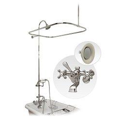 Randolph Morris Clawfoot Tub Shower Enclosure w/ English Telephone Faucet