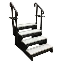 4-Tread Spa Step in Gray and Black