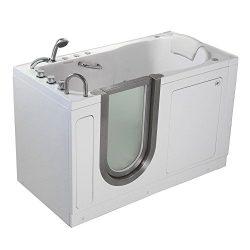 Ella HH3058 Deluxe Walk-in Tub, 30″ x 55″ x 38″, White