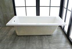 67 In Drop-in Bathtub – Acrylic White (B-BYC1700)