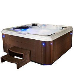 Essential Hot Tubs SS234677003 Syracuse-67 Jet Hot Tub, Espresso