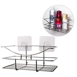 Shower Caddy Bathroom Shower Corner Basket Shelf HuaForCity Portable Space Saving Self Adhesive  ...