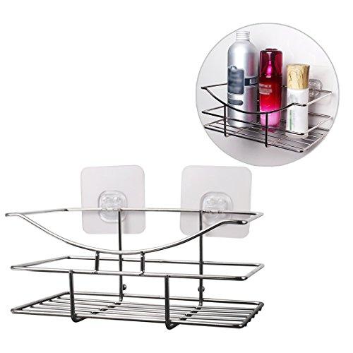 Under Shelf Basket Storage Space Saving Steel Bronze: Shower Caddy Bathroom Shower Corner Basket Shelf