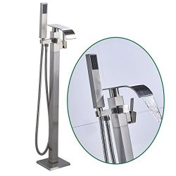 Senlesen Stainless Steel Barthroom Tub Filler Faucet Floor Mounted Bathtub Shower Faucet Waterfa ...