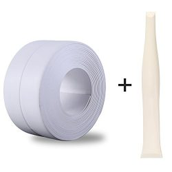 "Silicone Caulk Strip,PVC Strong Self Adhesive Tub Sink Wall Sealing Caulk tape 1-1/"" x11 White"