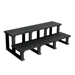 Highwood SPASTP-IA1-2×48-BKE Hot Tub/Spa Two Tier Steps, 48″, Black