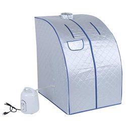Beenaspiring Blue Portable Steam Sauna Full Body Detox Loss Weight Slim Indoor Spa Therapy 110V/ ...