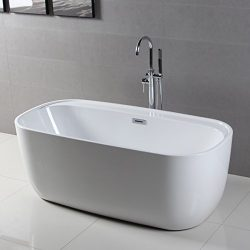 FerdY Freestanding Bathtub, Soaking Bath Tub, Stand Alone Tub for Bathroom, Contemporary Style,  ...