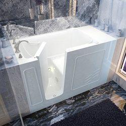 Spa World Venzi Vz3060wilwa Rectangular Air Jetted Walk-In Bathtub, 30×60, Left Drain, White