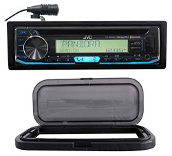 JVC Hot Tub Stereo Bluetooth CD Player Receiver, USB/iPhone/Android+Splash Guard