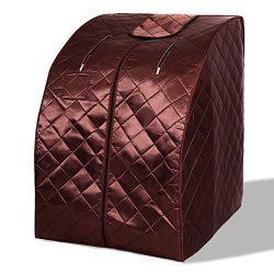 Imtinanz Modern Portable Far Infrared Sauna with Chair