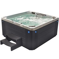 Essential Hot Tubs SS2540407403 Alterra 40 Jet Acrylic Hot Tub, Grey