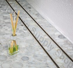 Royal Linear Shower Drain Stainless Steel Tile Insert By Serene Steam 59