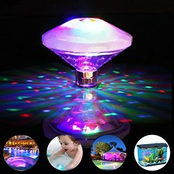 Swimming Pool Lights Floating Underwater LED Pond Lights for Hot Tub, Baby Bathtub, Fountain, Di ...