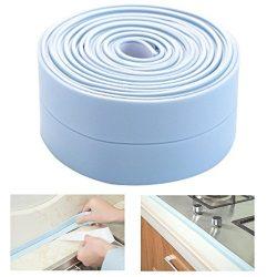 Bathtub Caulk Strip, Gigabit Waterproof Tub Sealing Tape Caulk Sealer Anti-mildew Wall Trimmer P ...
