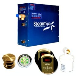 Steam Spa RY900BNC Royal Complete Package with 9kW Steam Generator, Brushed Nickel