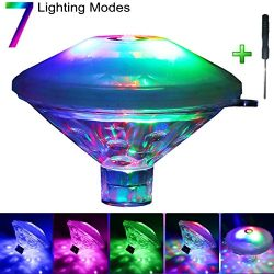Antallcky Bath Light Bathtub Lights Upgrade Version,Waterproof Colorful LED Toys,Floating Lights ...