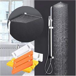 Gowe Bathtub Faucets bath tub mixer show Stool toilet folding chair Wall Mounted Shower Seats Ba ...