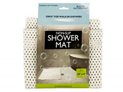 bulk buys OF440 Non-Slip Shower Mat with Suction Cups, White