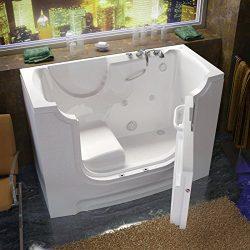 Spa World Venzi Vz3060wcarwh Rectangular Whirlpool Walk-In Ada Bathtub, 30×60, Right Drain, ...