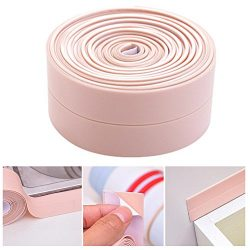 Bathtub Caulk Strip, Gigabit Waterproof Tub Sealing Tape Caulk Sealer Anti-mildew Wall Trimmer P ...
