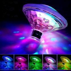 Waterproof Swimming Pool lights, Baby Bath Lights for the Tub(7 Lighting Modes), Colorful Bath T ...