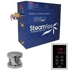 Steam Spa OAT900CH Oasis 9 KW Quick Start Acu-Steam Bath Generator Package, Chrome