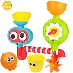DorAn Gift Set Baby Bath Toys – Spray Station Bath Toy for Boys&Girls Waterfall Statio ...