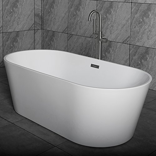 "67 Halsey Acrylic Tub: WOODBRIDGE 67"" Acrylic Freestanding Bathtub Contemporary"