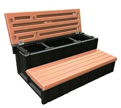 Confer Plastics Outdoor Spa Storage Steps Redwood