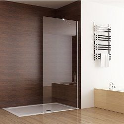 Seesuu Frameless Shower Door Fixed Glass Bathtub Shower Screen Panel Walk In Shower Enclosure Cl ...
