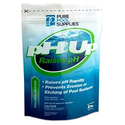 Pure Pool Supplies pH Up 2 Lbs. (pH Increaser pH Plus Soda Ash Sodium Carbonate) Pool Spa Balancer