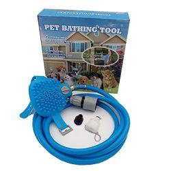 HomeYoo Pet Bathing Kit Tool, Shower Sprayer for dog, Multi-functional Pet Wash Attachment appli ...