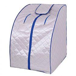 Silver Quality Far Infrared FIR Portable Sauna Spa Steam Steamer Folding Chair Foot Massager Foo ...