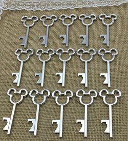 40pcs Antique Skeleton Key Bottle Opener Silver Wedding Favor Bridal Shower Gift Steampunk Decor ...