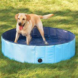 ETbotu Portable Pet Bathtub Collapsible Waterproof Bath Tub Swimming Pool