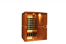 DYNAMIC SAUNAS AMZ-DYN-6310-01 Madrid 3-Person Far Infrared Sauna – Curbside Delivery