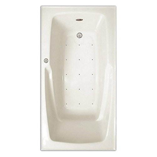 Signature Bath LPI16-A-RD Drop-In Air Injection Bathtub with Stainless Jets – Right Drain, ...