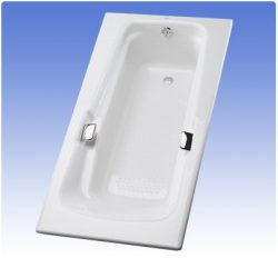 Toto FBY1500PNo.01 Enameled Cast Iron Bathtub 60-3/8-Inch by 36-1/4-Inch by 22-1/4-Inch, Cotton
